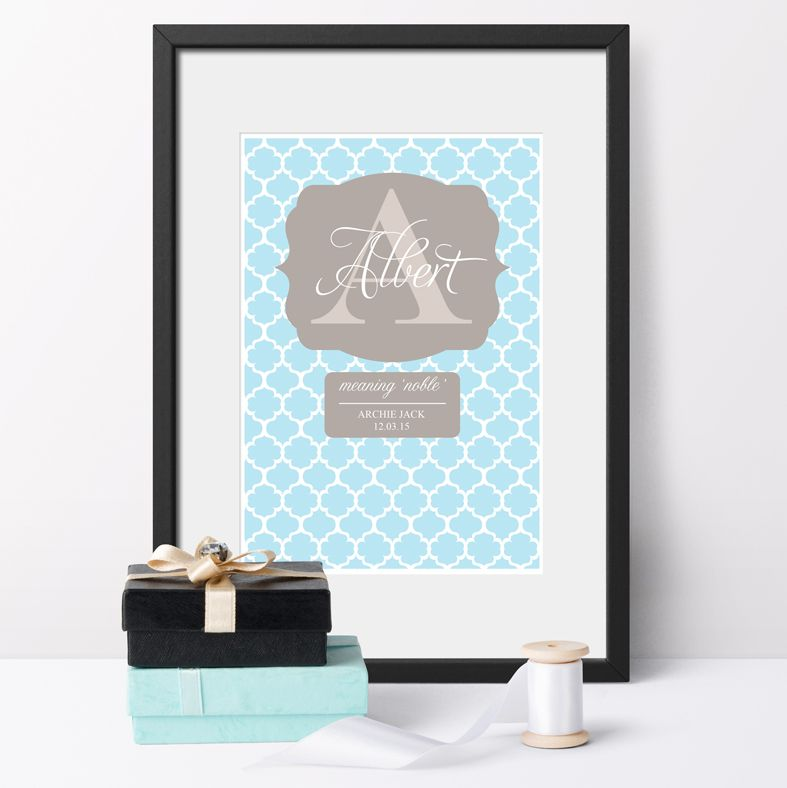 Personalised Name Meaning Print | bespoke baby christening gifts from PhotoFairytales