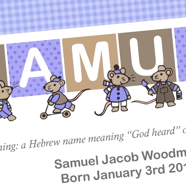 Mouse name meaning nursery baby print