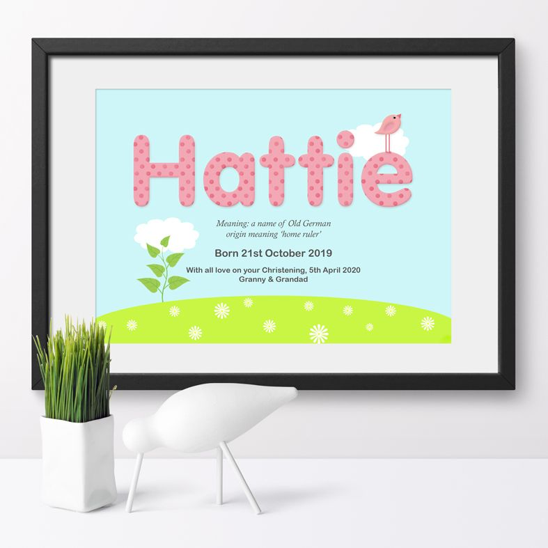 Personalised Summer nursery print | bespoke baby christening gifts from PhotoFairytales