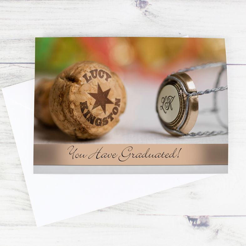 Champagne personalised greeting card