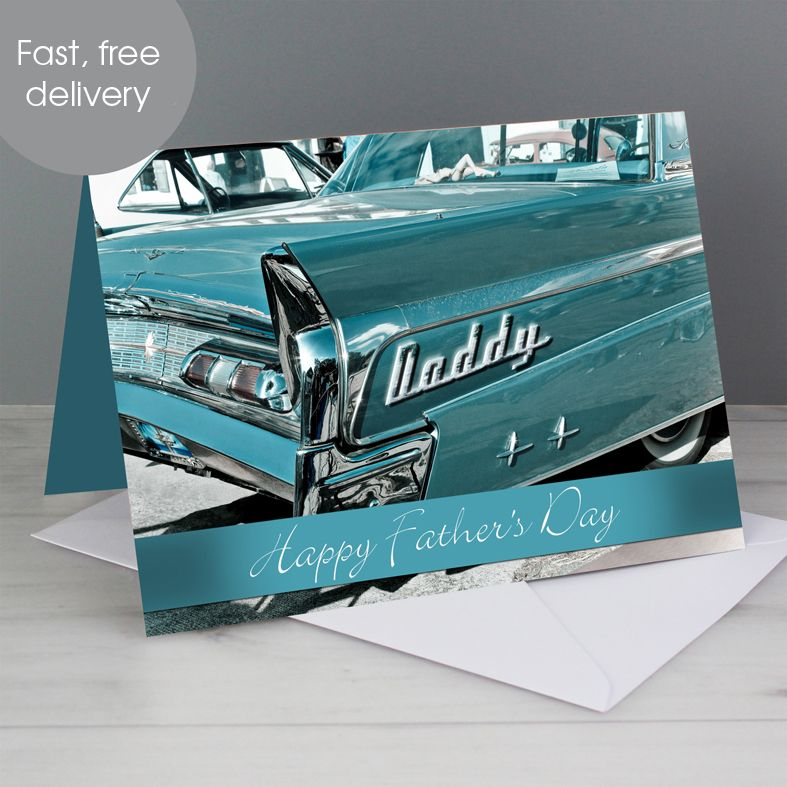 Retro Car personalised greeting card