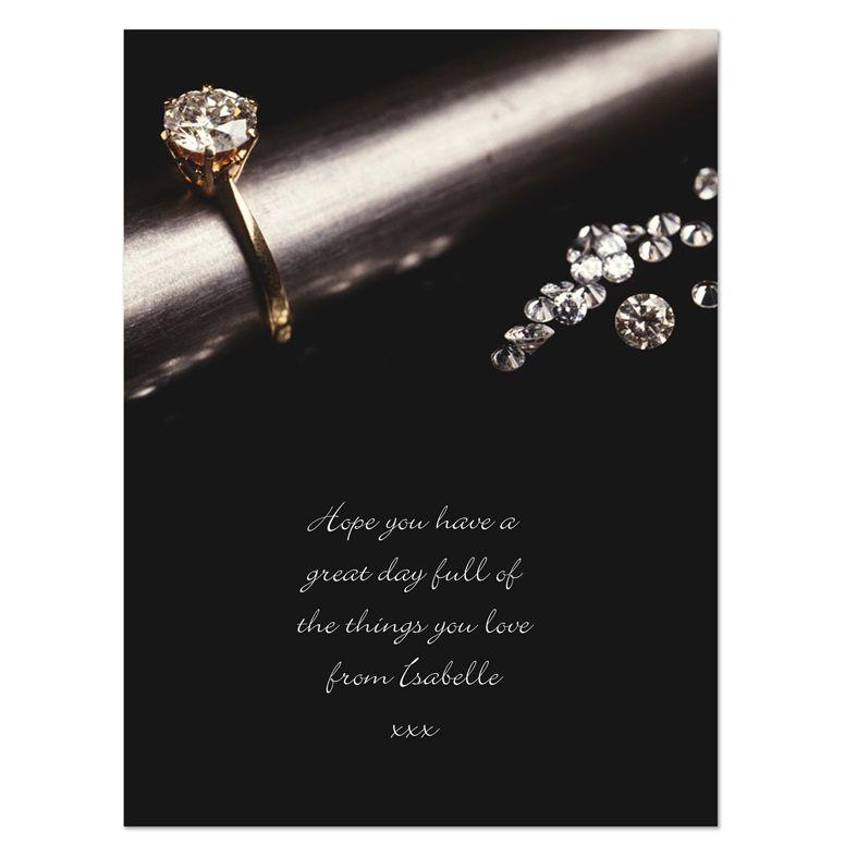 Diamonds personalised greeting card