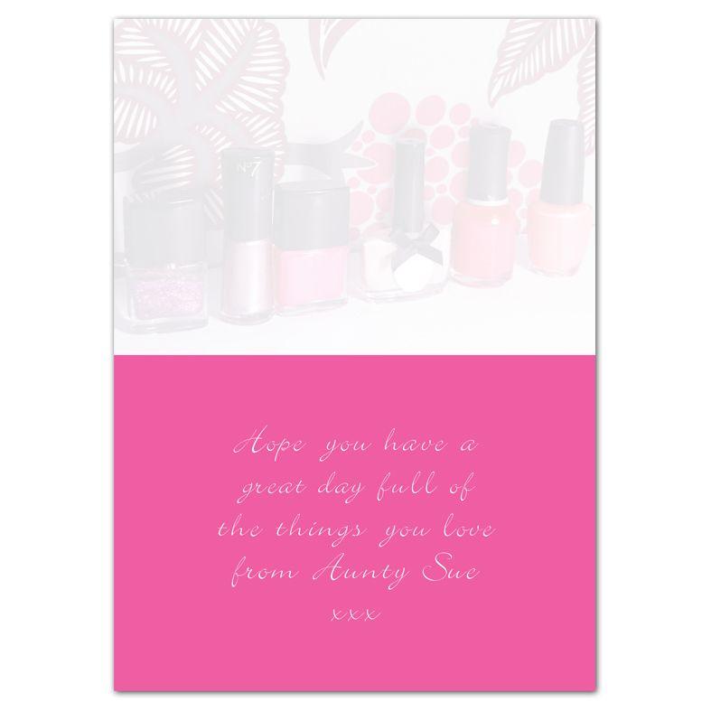 Nail Polish  personalised greeting card