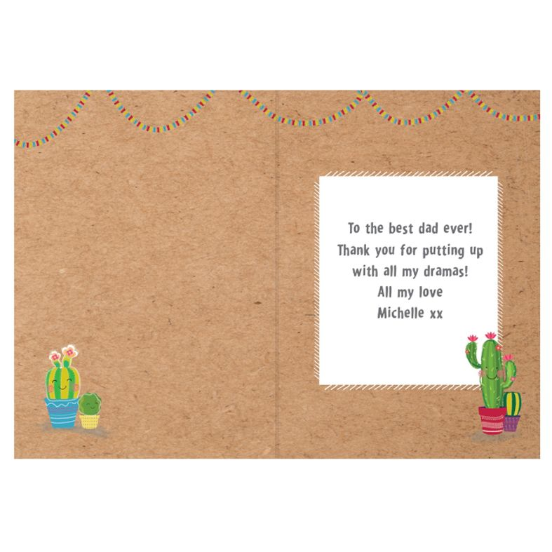 Llama Alpaca personalised greeting card