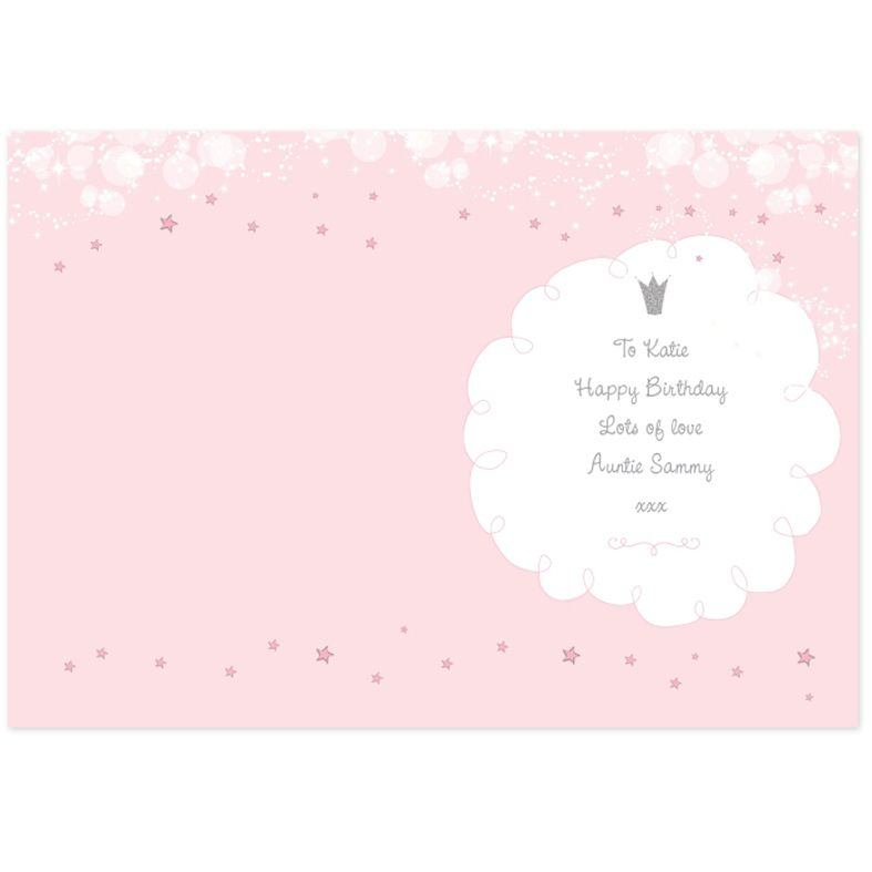 Fairy Princess personalised greeting card