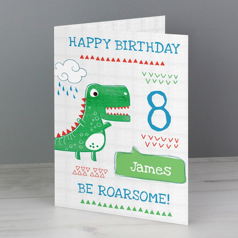 Be Roarsome personalised greeting card