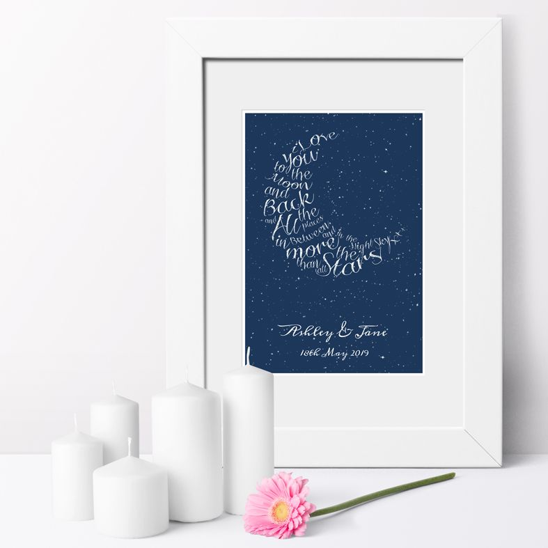 Personalised Written in the Stars word art print   romantic wedding or anniversary gift from PhotoFairytales