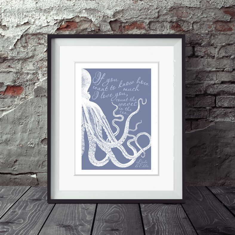 Personalised Waves in the Sea print | romantic Valentine or anniversary gift from PhotoFairytales
