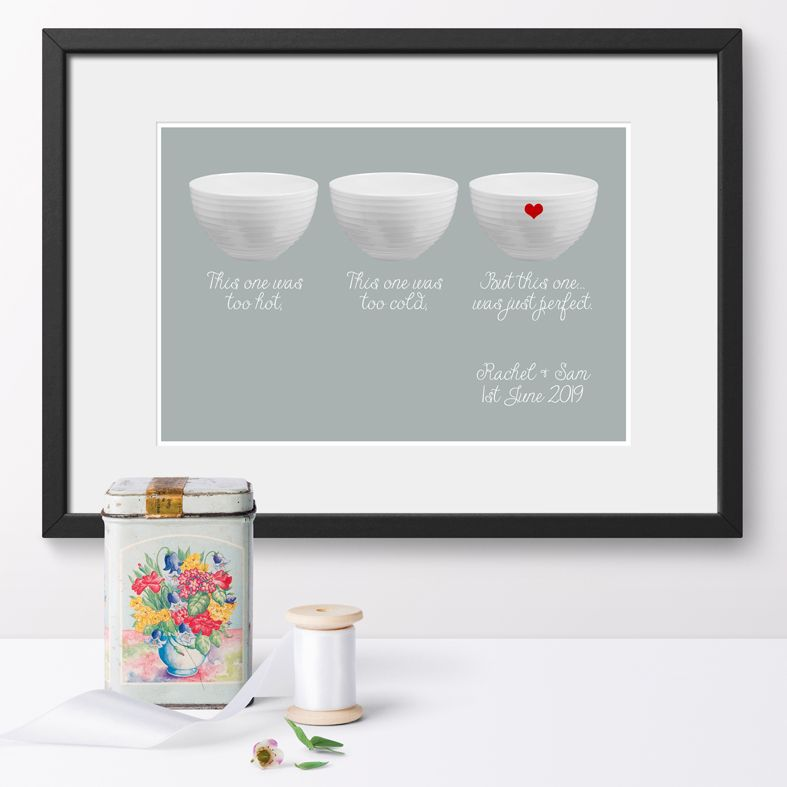 Personalised Bowls print | romantic wedding or anniversary gift from PhotoFairytales