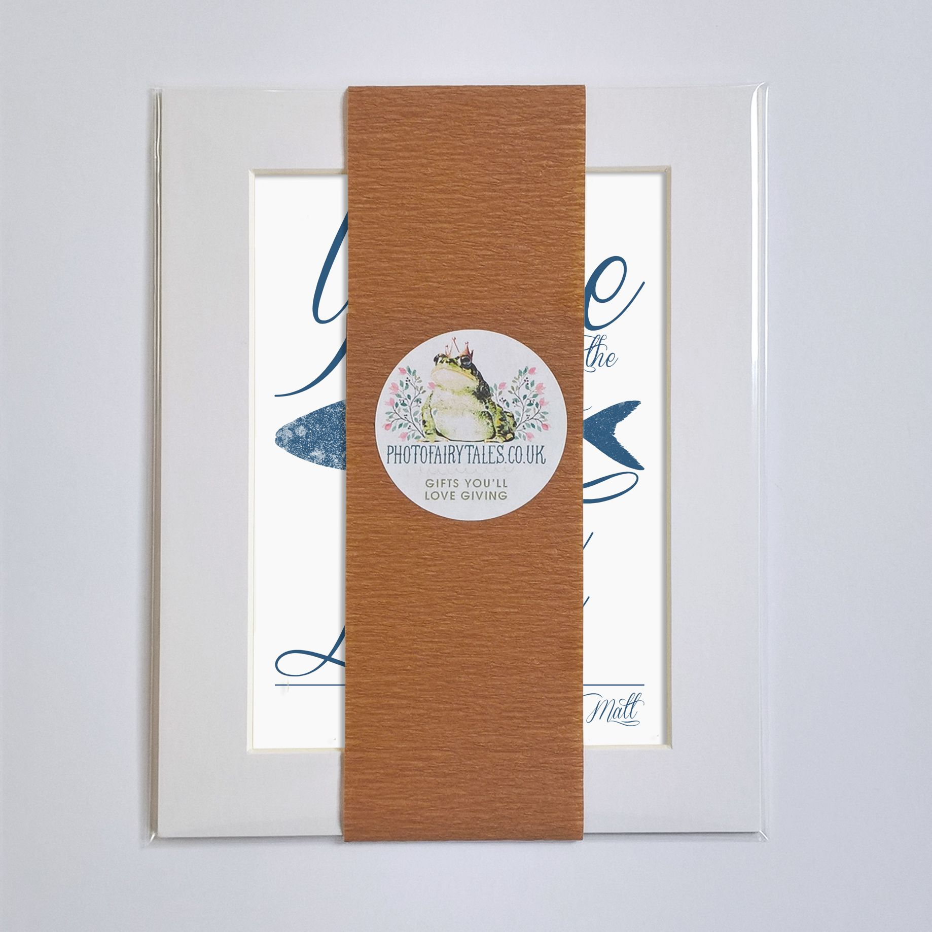 Personalised Only Fish in the Sea print | romantic Valentine or anniversary gift from PhotoFairytales