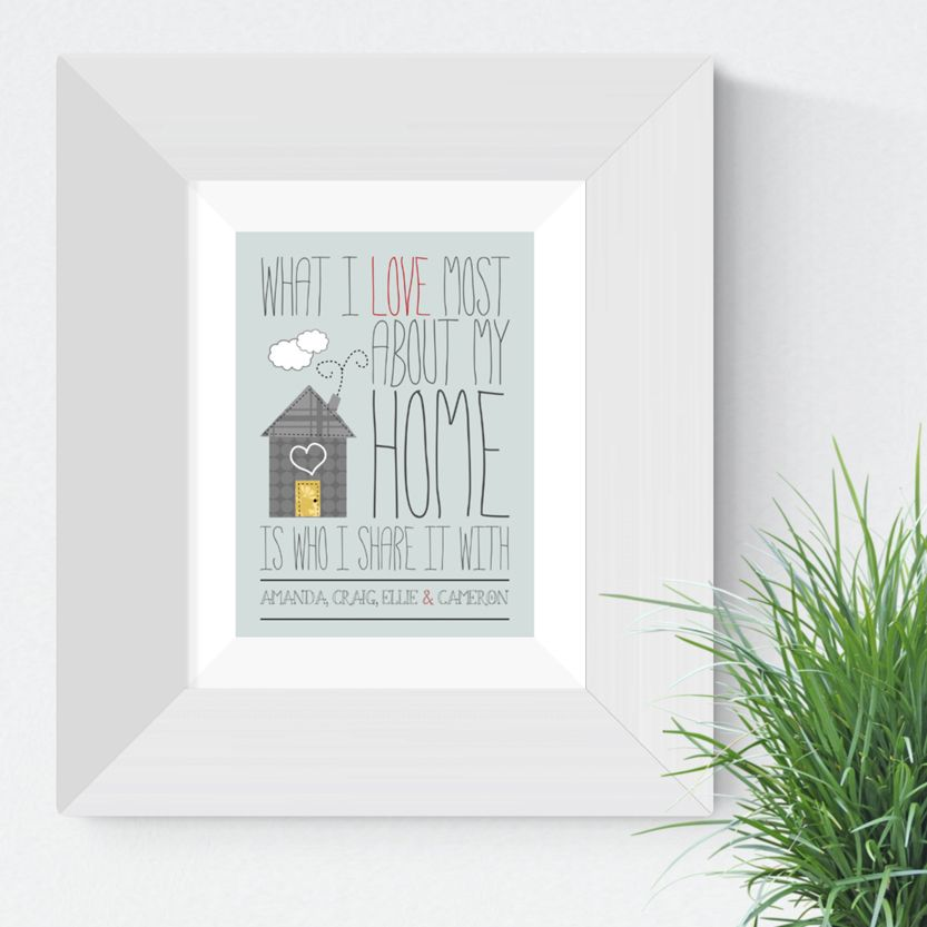 Personalised Love My Home print   romantic Valentine or Anniversary Gift from PhotoFairytales