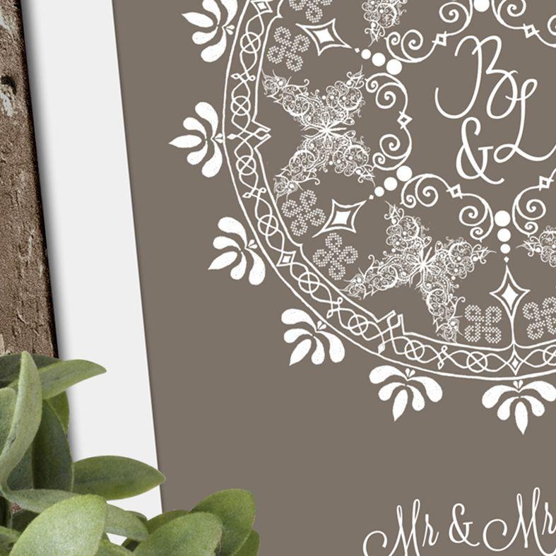 Personalised Wedding Butterflies print | romantic Wedding or Anniversary Gift from PhotoFairytales