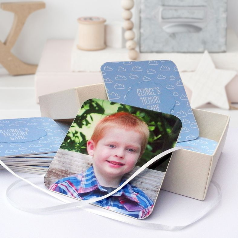 Handmade Personalised Memory Card Game | unique custom bespoke gift for young child from PhotoFairytales