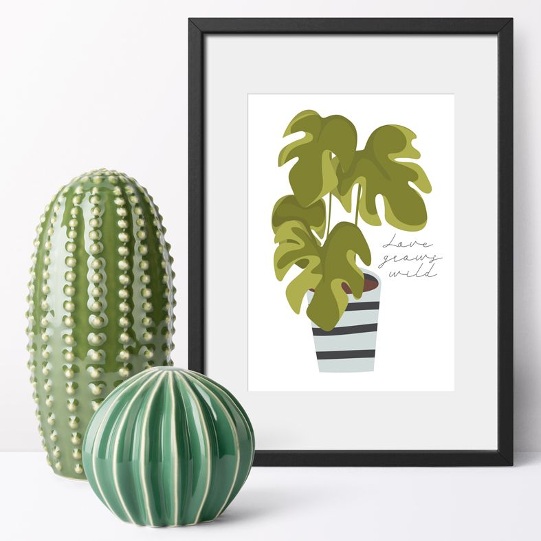 Love Grows Wild houseplant art print | made to order wall art from PhotoFairytales