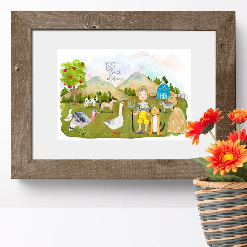 The Great Outdoors childrens art print | made to order wall art from PhotoFairytales