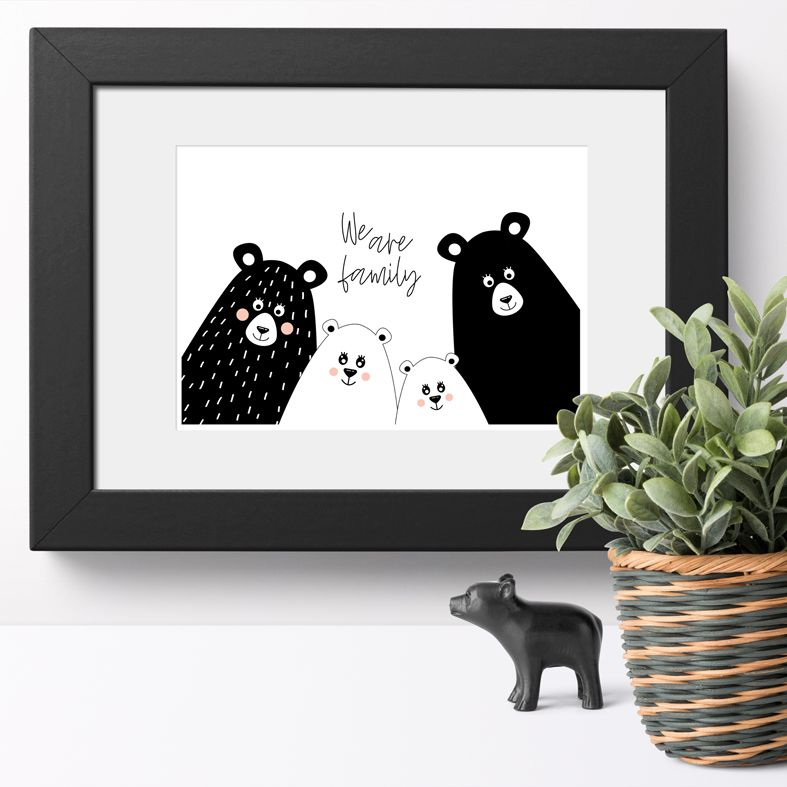 We Are Family Bear Selfie art print | made to order wall art from PhotoFairytales