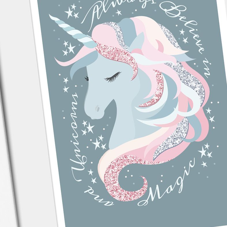 Believe in Unicorns art print | made to order wall art from PhotoFairytales