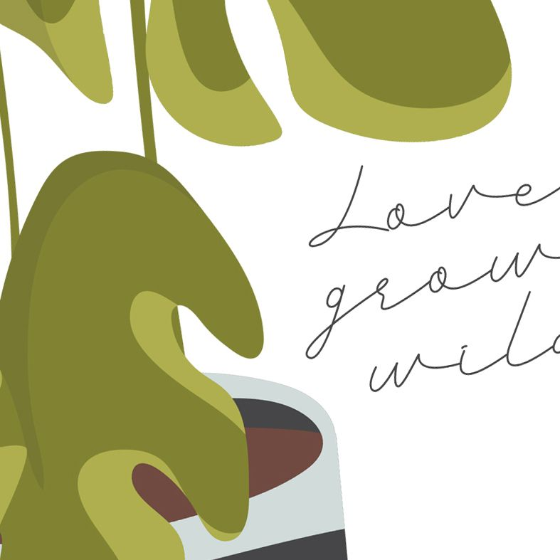 Love Grows Wild houseplant art print | made to order garden wall art from PhotoFairytales