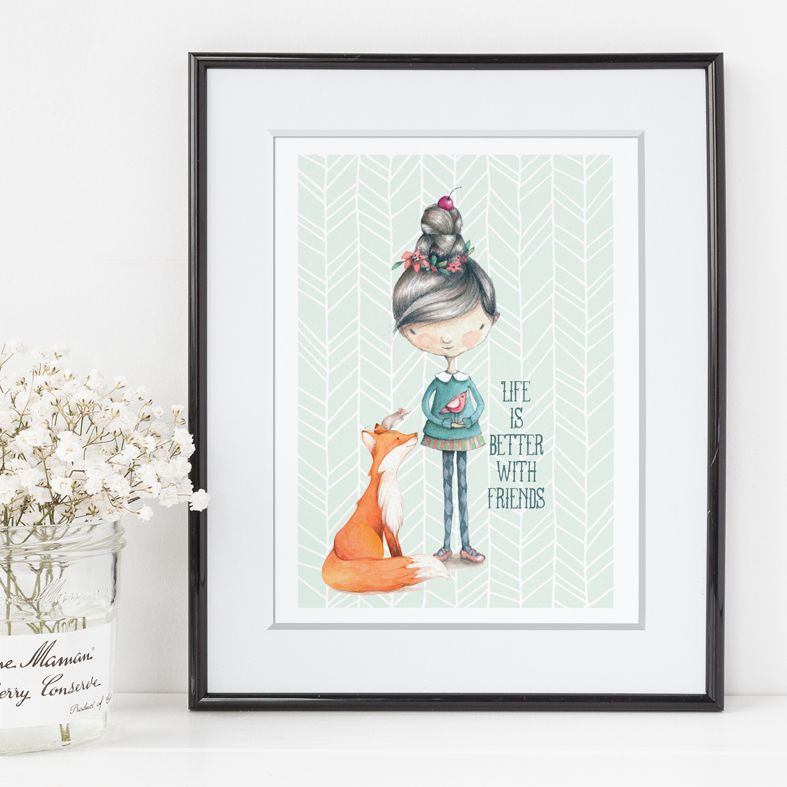 Life is Better With Friends art print | made to order friendship wall art from PhotoFairytales