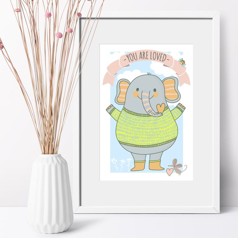 You Are Loved Nursery Art Print | made to order wall art for baby or child from PhotoFairytales