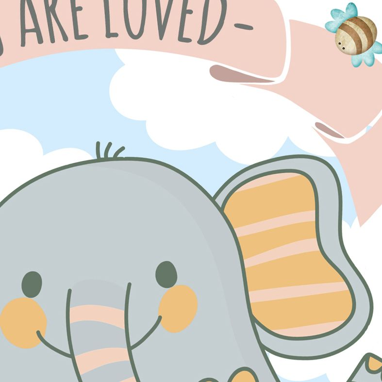 You Are Loved Nursery Art Print   made to order wall art for baby or child from PhotoFairytales