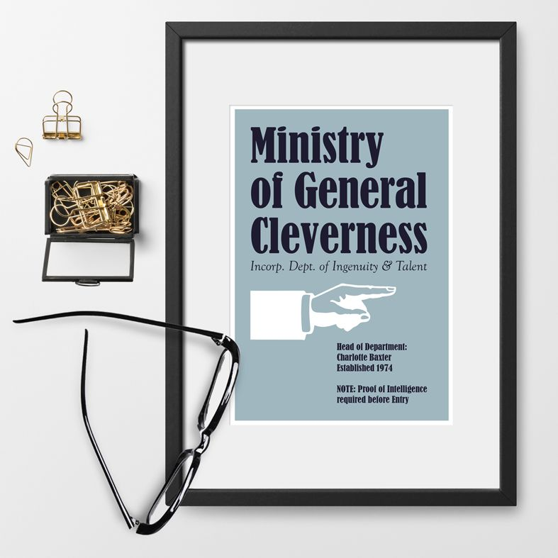 Ministry of Silly Personalised Prints | home office, craft room, graduation gift, work colleague gift - from PhotoFairytales