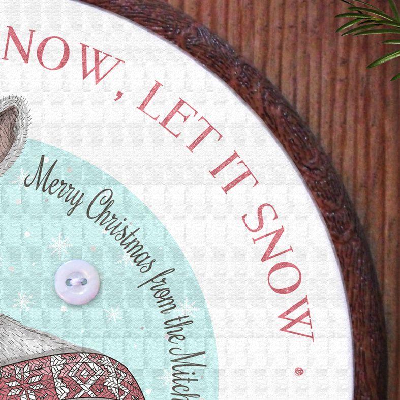 Christmas Rabbit Personalised Embroidery Hoop Print   Handmade Gift, PhotoFairytales