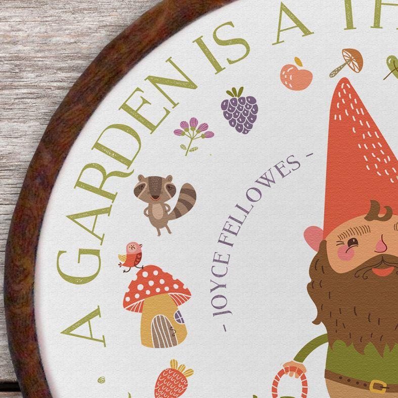 Garden Personalised Embroidery Hoop Print | Handmade Gift, PhotoFairytales