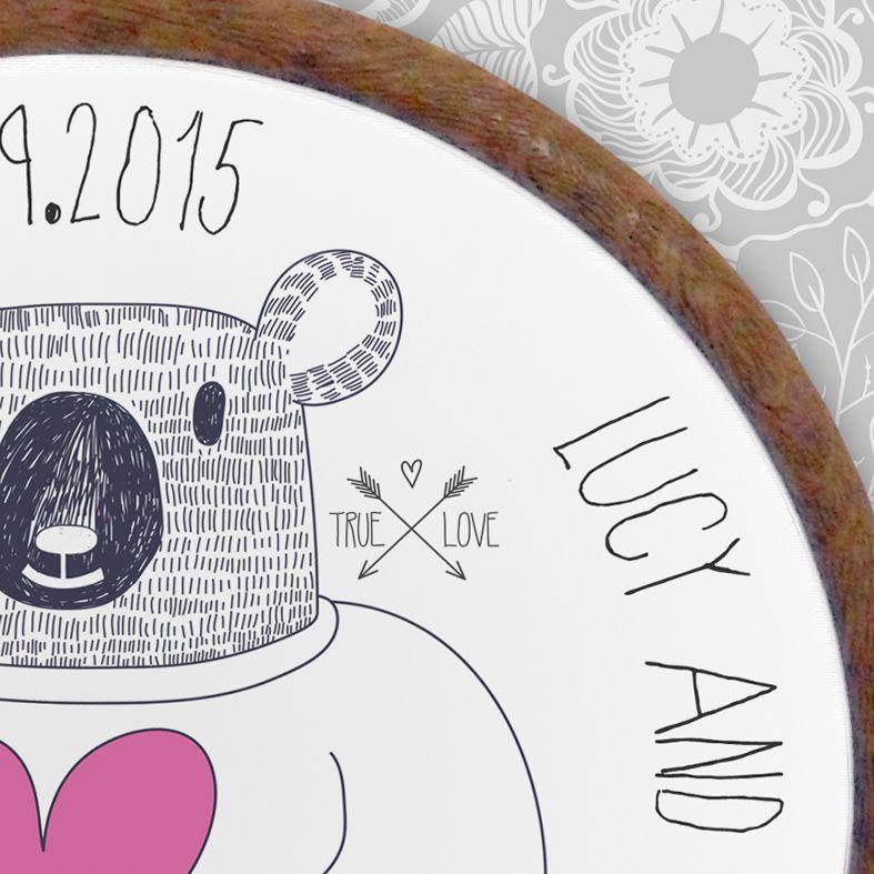 Bear Personalised Embroidery Hoop Print | Handmade Gift, PhotoFairytales