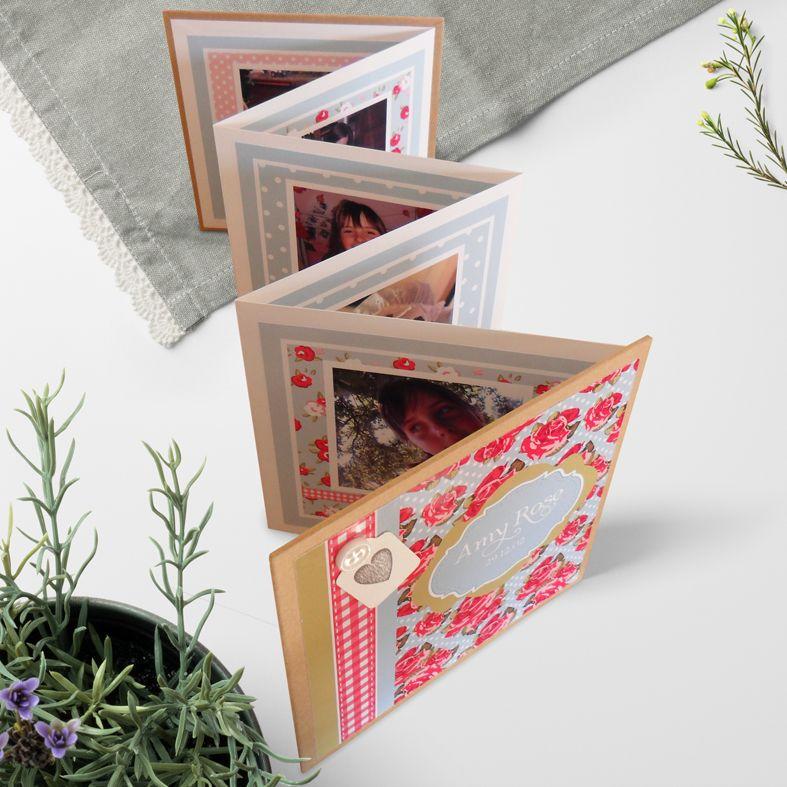 Personalised Photo Albums | handmade pocket sized keepsake photo album from PhotoFairytales