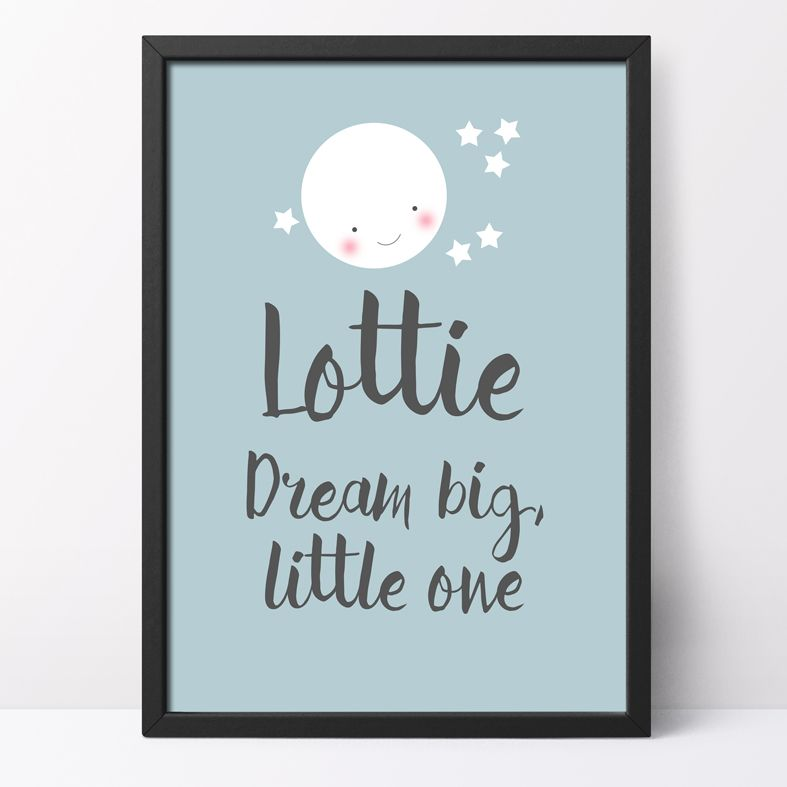 Personalised kawaii style art prints for baby, child, and loved ones | Put a smile on your wall, Smiler print range from PhotoFairytales