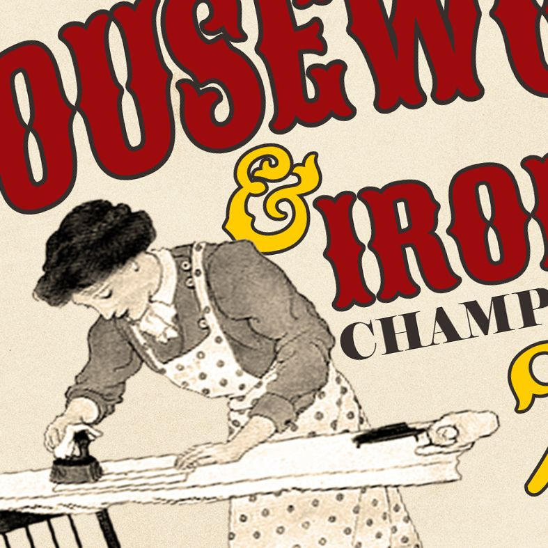 The Housework & Ironing Championships | fun personalised gift idea for her, guaranteed to raise a smile! Perfect present for mum's birthday or Mother's Day, from PhotoFairytales #mothersday #mum #housework #mothersdaygifts