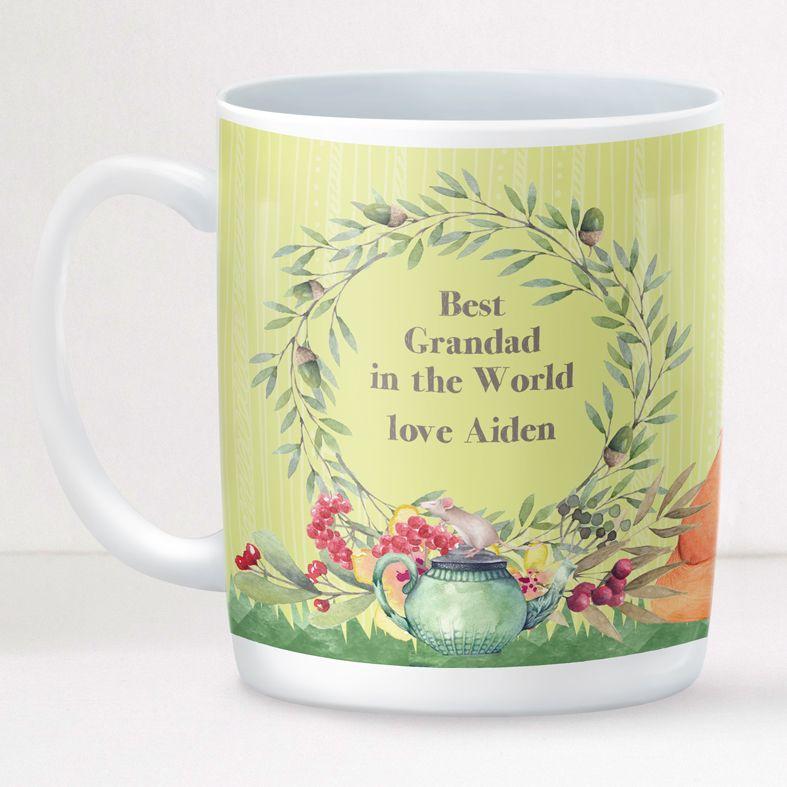Garden personalised mug gift  | beautifully illustrated and customised mug, created to order, from PhotoFairytales #personalisedmug