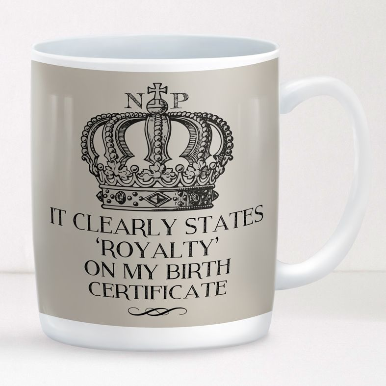 Royalty personalised mug gift  | beautifully illustrated and customised mug, created to order, from PhotoFairytales #personalisedmug #royal