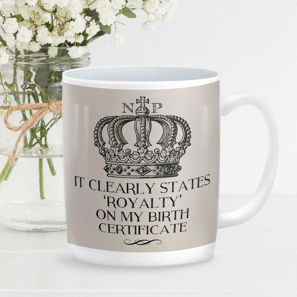 Royalty personalised mug gift    beautifully illustrated and customised mug, created to order, from PhotoFairytales #personalisedmug #royal