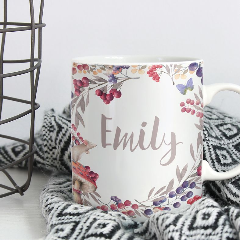Berries personalised mug gift | beautifully illustrated and customised mug, created to order, from PhotoFairytales #personalisedmug