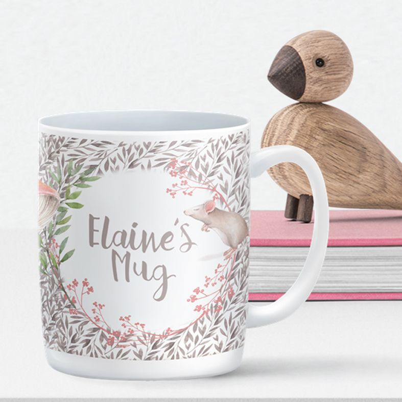 Little Mouse personalised mug gift   beautifully illustrated and customised mug, created to order, from PhotoFairytales #personalisedmug