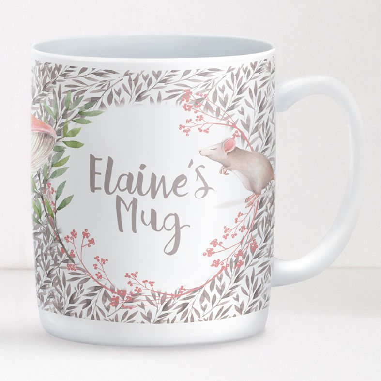 Little Mouse personalised mug gift | beautifully illustrated and customised mug, created to order, from PhotoFairytales #personalisedmug