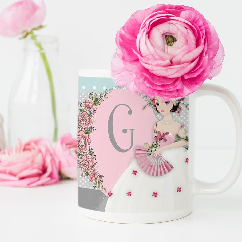 Princess personalised mug gift | beautifully illustrated and customised mug, created to order, from PhotoFairytales #personalisedmug