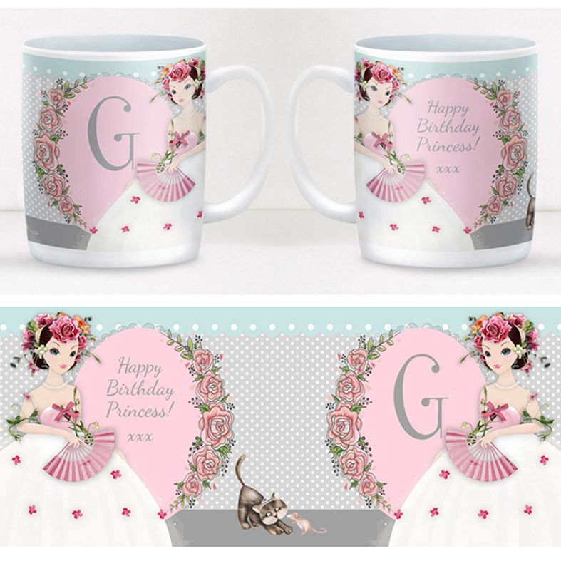 Princess personalised mug gift | beautifully illustrated and customised mug, created to order, from PhotoFairytales #personalisedmug