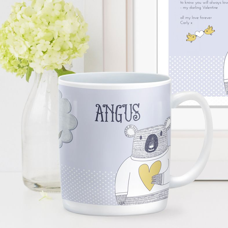 Love Bear personalised mug gift | beautifully illustrated and customised mug, created to order, from PhotoFairytales #personalisedmug
