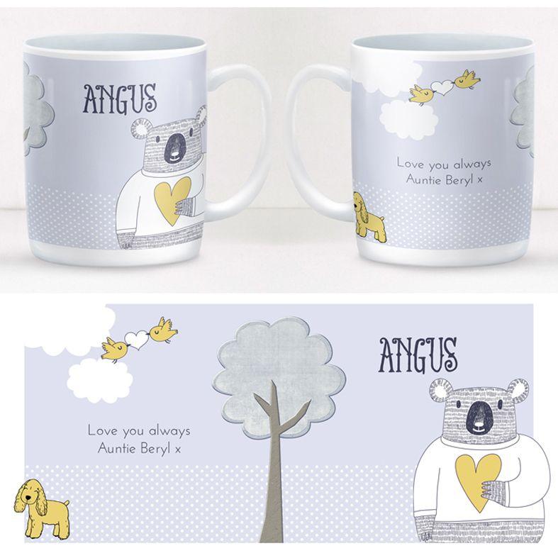 Love Bear personalised mug gift | beautifully illustrated and customised mug, created to order, from PhotoFairytales #personalisedmug
