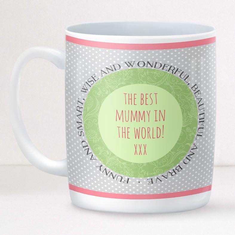 Spectacled Rabbit personalised mug gift | beautifully illustrated and customised mug, created to order, from PhotoFairytales #personalisedmug