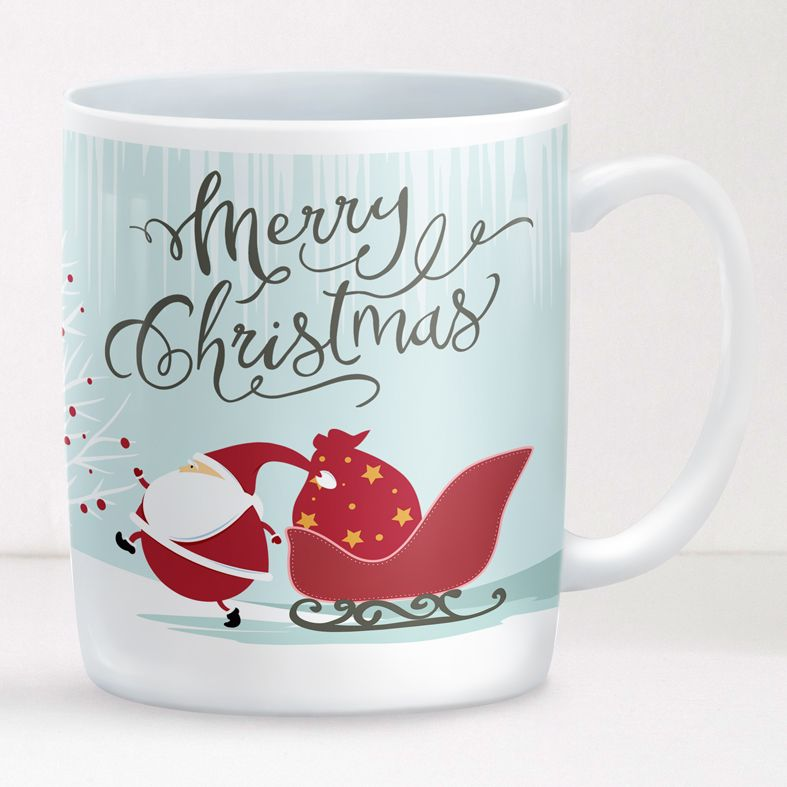 Santa personalised mug gift   beautifully illustrated and customised mug, created to order, from PhotoFairytales #personalisedmug #personalisedChristmas