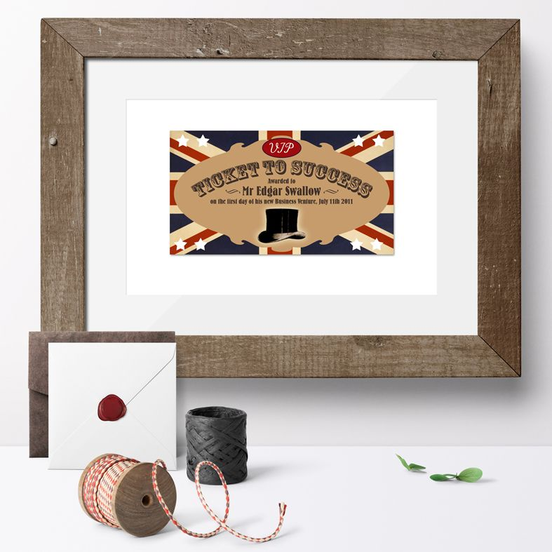 Personalised Ticket to Success print | keepsake gift, unique personalised wall art, from PhotoFairytales #exampassgift #goodluckgift