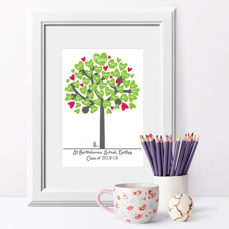 Personalised Classroom Tree Prints | Custom made prints featuring your teachers and classmates. A delightful personalised keepsake of your school days for you, your child, fellow parents and teachers. A truly touching and thoughtful thank you teacher gift idea, from PhotoFairytales #teachergift