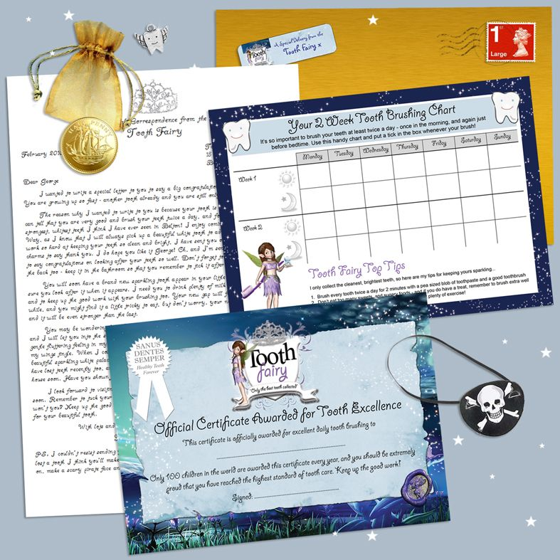 Personalised Tooth Fairy Letter | Beautiful personalised Tooth Fairy Letters for boys & girls. Made to order, quality fairy letter packs. Great value: full of personalised details & come with gifts too! From PhotoFairytales #toothfairy