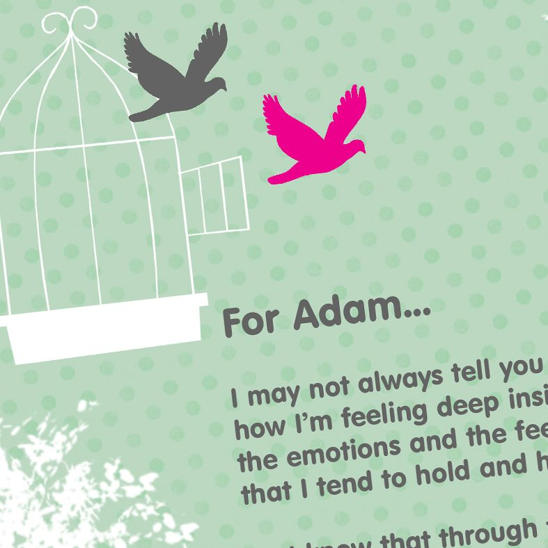 Personalised Bird Cage Poem Art Print| custom designed love poem print. Keep the featured love poem or request your own special wording, poetry or song lyrics. A truly thoughtful and touching romantic gift idea, from PhotoFairytales #personalisedpoem #poemart #poemprint