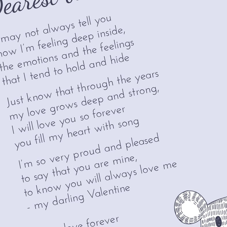 Personalised Love Bear Poem Art Print  custom designed love poem print. Keep the featured love poem or request your own special wording, poetry or song lyrics. A truly thoughtful and touching romantic gift idea, from PhotoFairytales #personalisedpoem #personalisedvalentine #poemprint