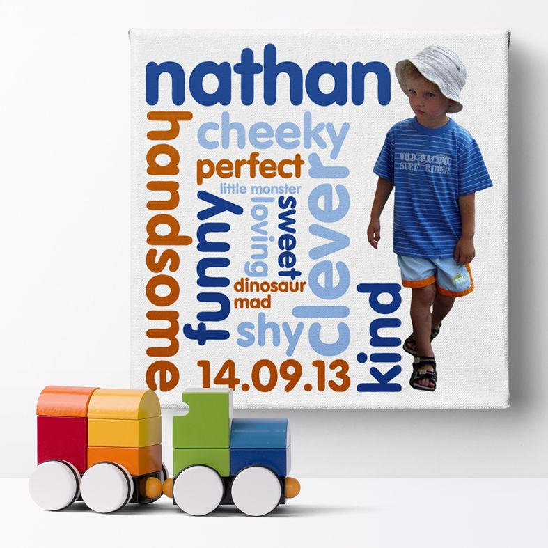 Personalised Baby Canvas Print | personalised 1st year baby gift from PhotoFairytales
